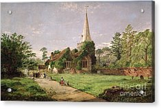 Stoke Poges Church Acrylic Print by Jasper Francis Cropsey