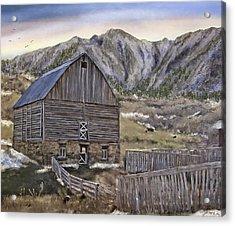 Stone Barn Acrylic Print by Susan Kinney