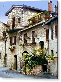 Stone House Assisi Italy Painting By George Zucconi
