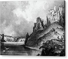 Stone Outcroppings Upper Misouri Acrylic Print by Douglas Barnett