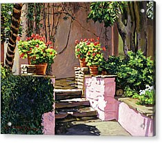 Stone Patio California Acrylic Print by David Lloyd Glover