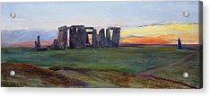 Stonehenge Acrylic Print by John William Inchbold