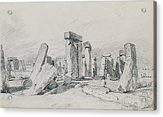 Stonehenge Wiltshire Acrylic Print by John Constable
