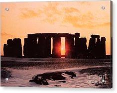 Stonehenge Winter Solstice Acrylic Print by English School