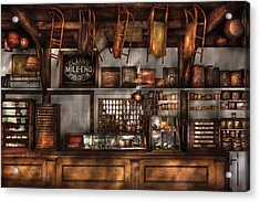 Store - Old Fashioned Super Store Acrylic Print by Mike Savad