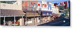 Store Fronts, Angels Camp, California Acrylic Print by Panoramic Images