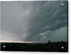 Storm Approaches Montauk Acrylic Print by Christopher Kirby
