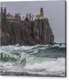 Storm At Split Rock Lighthouse Acrylic Print by Paul Freidlund