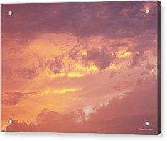 Storm Clouds Acrylic Print by Deborah  Crew-Johnson