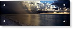Storm Clouds Over The Sea Acrylic Print by Panoramic Images