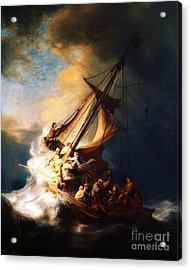 Storm On The Sea Of Galilee Acrylic Print by Pg Reproductions
