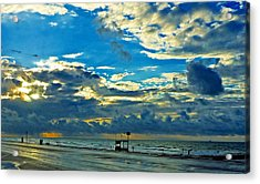 Storm Over The Gulf Acrylic Print by John Collins