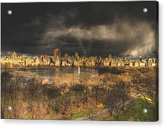 Storm Over The Park Acrylic Print by Ariane Moshayedi