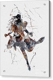 Storm Acrylic Print by Rebecca Jenkins