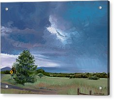 Storm Warning Yell County Arkansas Acrylic Print by Cathy France