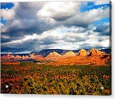 Stormwatch Arizona Acrylic Print by Kurt Van Wagner