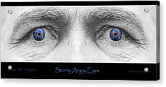 Stormy Angry Eyes Poster Print Acrylic Print by James BO  Insogna