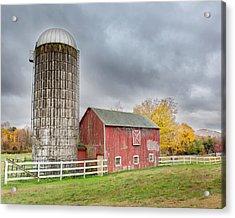 Stormy Autumn Skies Acrylic Print by Bill Wakeley