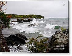 Stormy Copper Harbor Acrylic Print by Sandra Updyke