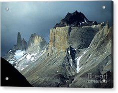 Stormy Light Over Los Cuernos Del Paine  Acrylic Print by James Brunker