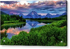 Stormy Morning In Jackson Hole Acrylic Print by Jeff R Clow