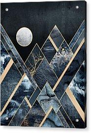 Stormy Mountains Acrylic Print by Elisabeth Fredriksson