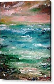 Stormy Sea Acrylic Print by Patricia Taylor