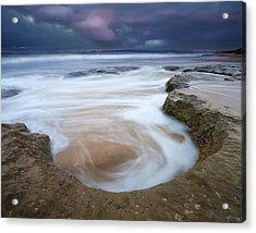 Stormy Sunrise Acrylic Print by Mike  Dawson
