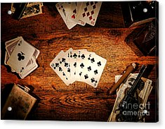 Straight Flush Acrylic Print by Olivier Le Queinec