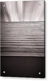 Straight Line Above Acrylic Print by Scott Norris