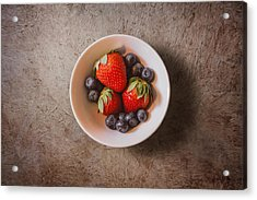 Strawberries And Blueberries Acrylic Print by Scott Norris