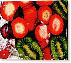 Strawberries And Kiwi Acrylic Print by Sarah Loft
