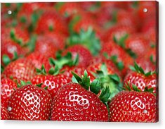 Strawberries Close-up Picture Acrylic Print by Paul Velgos