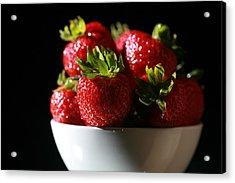 Strawberries  Acrylic Print by Michael Ledray