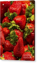 Strawberries Acrylic Print by Svetlana Sewell