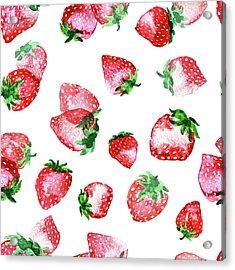 Strawberries Acrylic Print by Varpu Kronholm