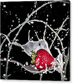 Strawberry Extreme Sports Acrylic Print by TC Morgan