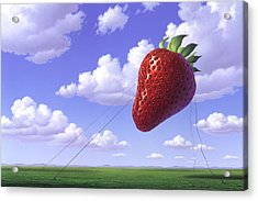 Strawberry Field Acrylic Print by Jerry LoFaro