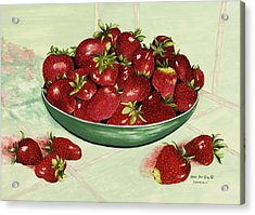 Strawberry Memories Acrylic Print by Mary Ann King