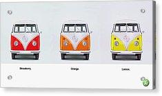 Strawberry. Orange. Lemon. Acrylic Print by Mark Rogan