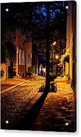 Street In Olde Town Philadelphia Acrylic Print by Mark Dodd