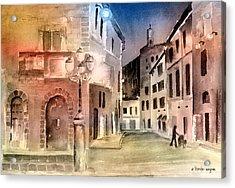 Street Scene In Italy Acrylic Print by Arline Wagner
