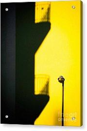 Streetlamp And Balconies Shadow Acrylic Print by Silvia Ganora