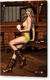 Strip Poker Acrylic Print by Todd and candice Dailey