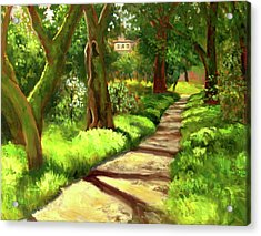 Stroll Through The Oaks Acrylic Print by Char Wood