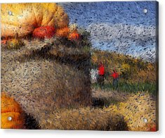 Strolling Through Autumn Acrylic Print by Tingy Wende