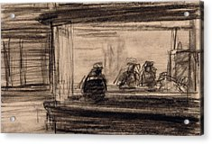 Study For Nighthawks Acrylic Print by Edward Hopper