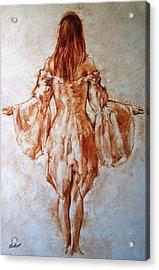 Study Of An Angel Acrylic Print by Stuart Gilbert