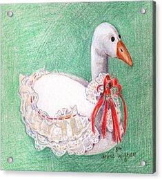 Stuffed Goose Acrylic Print by Arline Wagner