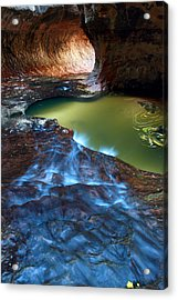 Subway In Zion National Park Utah Acrylic Print by Pierre Leclerc Photography